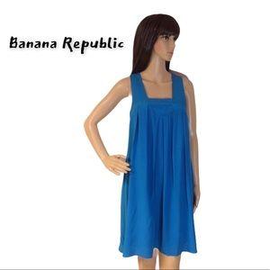 BANANA REPUBLIC TURQUOISE SILK DRESS
